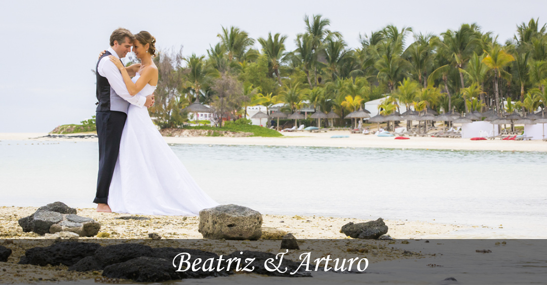 Beatriz and Arturo wedding images, celebrated at the Residence Hotel, Mauritius.